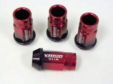 20PC LANCER EVO 8 9 IX RACING LUG NUTS 12X1.5 RED BLACK