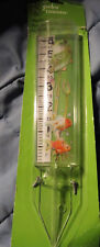 "New 12 Inch Magnifying Rain Gauge Frog & Fish Design Measures Up To 6"" Water"
