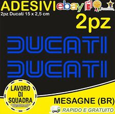 KIT 2 Adesivi Stickers DUCATI OLD panigale 848 1098 999 749 916 998 748 996 BLU