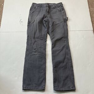 Carhartt Flannel Lined Original Fit Work Pants Dark Gray Size 4 Measure 29x27.5