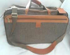 Vintage Hartmann Leather and Tweed Suitcase Luggage Carryall Expandable !