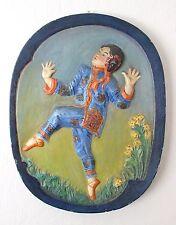 Leon Fighiera c.1925 Signed Art Deco Chalk Work Plaque (Hunt Contemp) China Girl