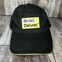 Mobil Delvac Engine Fuel Hat Cap Black Yellow Adjustable Strapback OSFA One Size