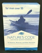 Natures Code Vitamin Supplements For Men Over 50, 90 Packets 09/22 NEW OPWN BOX