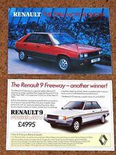1984 RENAULT RANGE Sales Brochure - R4 R5 Gordini R9 R11 R18 R20 R30 Fuego