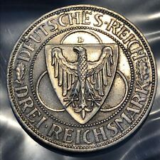 1930 D GERMANY 3 MARK  WEIMAR REPUBLIC RHINELAND LIBERATION SILVER COIN   #s05