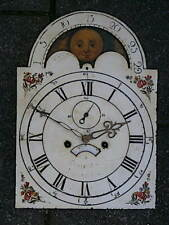 More details for c1820 8day moonphase longcase grandfather clock dial+movement 12x16+1/2 inch