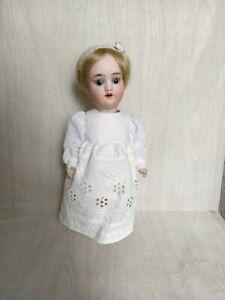 antike kleine  Kley & Hahn Porzellankopf Puppe 22 cm