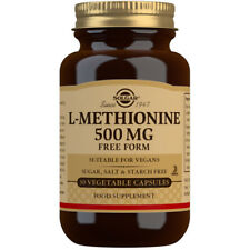 Solgar L-Methionine 500mg Free Form 30 Vegetable Capsules