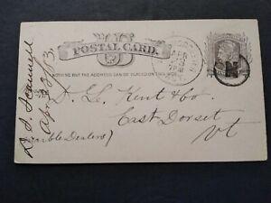 RPO: Win & Worcester Agt. 1883 Postal Card, Circled N Cancel, Mass Railroad