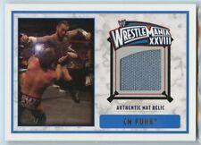 CM PUNK 2012 TOPPS WRESTLE MANIA XXVIII WWE RELIC CARD