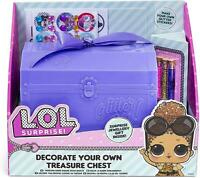 LOL Decorate Your Own Treasure Chest With Surprise Jewellery Gift L.O.L Surprise