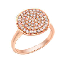 Real 0.60ct Natural Fancy Pink Diamonds Engagement Ring 18K Solid Gold 5G