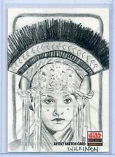PADME Topps STAR WARS GALAXY 5 SKETCH CARD by SARAH WILKINSON