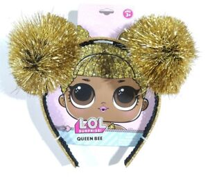 LOL Surprise! Queen Bee Tinsel Pom Headband Girls Costume Accessory Ages 3+