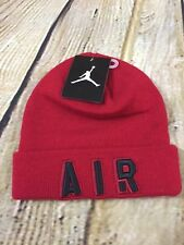 Boys Air Jordan Cuffed Beanie Winter Hat 9A1709-R78 Gym Red  Brand New