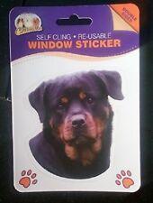 ROTTWEILER DOUBLE SIDED WINDOW STICKER ROTTY DOG