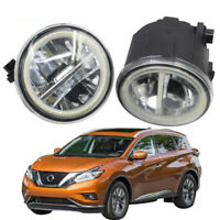 LED Fog Light + Angel Eye Rings Daytime Running Lights DRL Fit For Nissan Murano