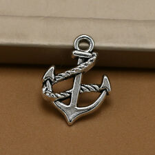 Lot 20/500PCs vintage silver metal nautical charms anchor pendants DIY jewelry