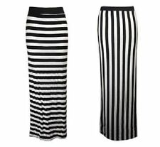 Viscose Machine Washable Striped Maxi Skirts for Women