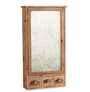Wood Shelf with Galvanized Door
