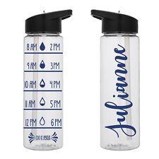 Water Tracker - Custom Name Water Bottle 24 Oz