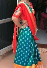 INDIAN BOLLYWOOD PARTY WEAR WEDDING DESIGNER CASUAL ETHNIC WOMEN SILK ZARI SAREE