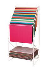"Rack White Wire Tissue Paper 20 Slot Holder 23"" x 15 ½"" x 49"" Gift Wrap Stand"