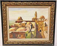 WEINSTOCK (CIRCA 1975) JEWISH JUDAICA OIL ON BOARD KING DAVID'S TOMB JERUSALEM