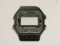 VINTAGE CASIO THERMOMETER WATCH CASE ONLY, FOR PARTS, JAPAN...