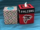 Handmade Needlepoint Plastic Canvas Tissue Box Cover Atlanta Falcons NFL