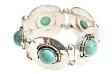 Turquoise Celtic Shield Bead Bracelet Bohemian Pagan Wicca Love Hippie Beach Fun