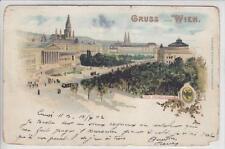 AK Wien I, Parlament, Rathaus, Litho 1902