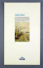 More details for klm royal dutch airlines vintage royal class menu amsterdam - dhahran