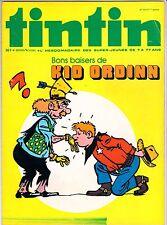 BD Comics Magazine Hebdo Journal Tintin No 34 31e Bon Baisers de Kid Ordinn