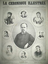 THEATRE LE DRAME DE LA RUE DE LA PAIX SARAH BERNHARDT CHRONIQUE ILLUSTRéE 1868