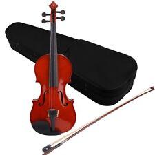 4/4 High Grade en bois massif naturel acoustique Violon Fiddle avec étui Bow -FR