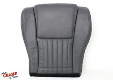 1993-1997 Pontiac Firebird Trans Am -Driver Bottom Leather Seat Cover Dark Gray