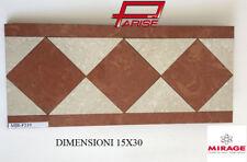 Offerta 6 pz Listello fascia gres piastrella Mirage ceramica decoro . 16x36 F219