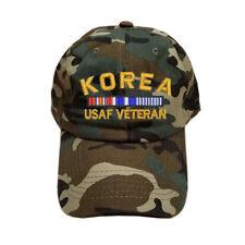 100% COTTON GREEN CAMO CAMOUFLAGE KOREA AIR FORCE USAF VETERAN RIBBON CAP HAT