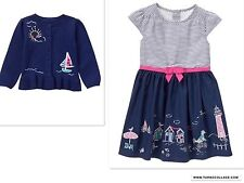 NEW GYMBOREE SHORE TO LOVE DRESS AND CARDIGAN NWT  SIZE 3T