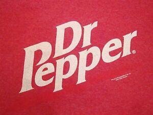 Dr. Pepper Soda Pop Cola Ringer Texas Made Ringer T Shirt M