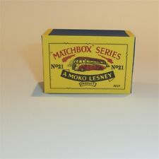 Matchbox Lesney 21 a Long Distance Coach Bus empty Repro B style Box