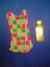 Vtg Barbie Francie Reproduction 60s Mod Doll Clothes Swim Suit Oss 1966 1130