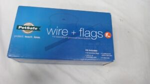 Pet Fence Wire and Flag Kit - Includes 50 boundary Flags and 500 FT of Wire