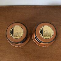 "Vintage Utah Automotive Speaker Pair 5"" Round RARE CS5JVC-W Orange Back Car"