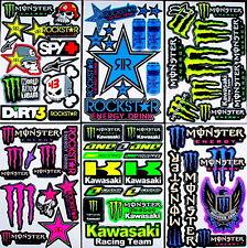 6 sheets Xtv motocross cut stickers mx energy drink bike moped bmx rockstar RC