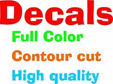"""50 Custom Decals 4""""x6"""" for Business, Bands, or Schools"""