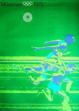 MUNICH 1972 OLYMPICS SPRINT A1 23x33.5 poster OTL AICHER art RARE VINTAGE
