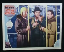 IT'S IN THE AIR 1935 Rare lobby card Jack Benny Ted Healy Una Merkel comedy